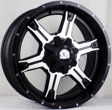 XTREME MUDDER 159 22X9+0 6X135+6X139.7 C.B 87.10 MATTE BLACK MACHINED FACE