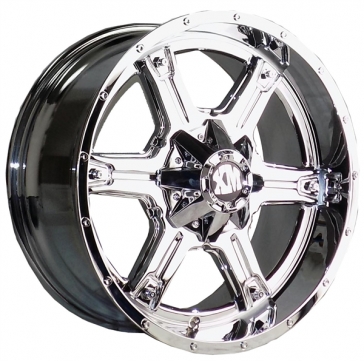 XTREME MUDDER 159 22X9+0 6X135+6X139.7 C.B 106 CHROME