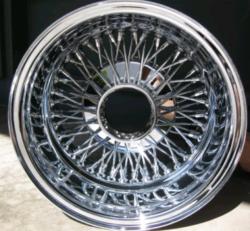 14X7 REV CROSS LACE 72 SPOKE K/O ALL CHROME