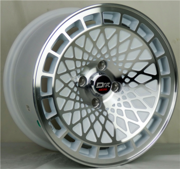 DRIFT L441 DR9 15X8+25 4X100 C.B 73.1 WHITE MACHINE FACE & LIP
