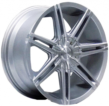 DRIFT L249 18X8.5+35 5X100+5X114.3 C.B 73.1 SILVER MACHINE FACE & LIP [NO LOGO IN BOX/ ASK]