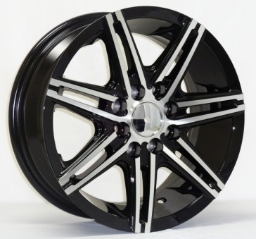 DRIFT L249 14X6+35 4X100+4X114.3 C.B 67.1 BLACK MACHINE FACE & LIP [NO LOGO IN BOX/ ASK]