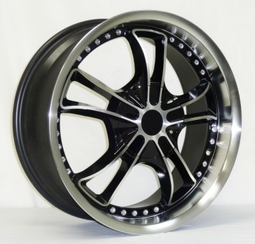 L283 18X7.5+42 5X100+5X114.3 C.B 73.1 BLACK MACHINE FACE AND LIP