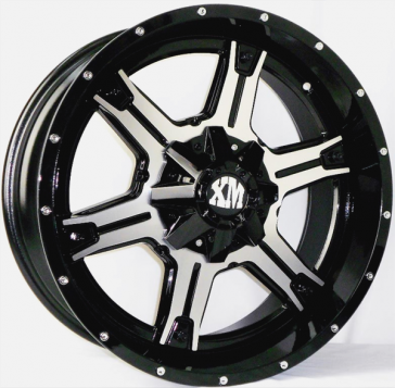 XTREME MUDDER 159 22X9+0 5X127+5X139.7 C.B 78.10 BLACK MACHINED FACE