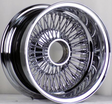 15X10 REV 80 SPOKE BOLT ON [5X120+5X114.3+5X127] BOLT ON CHROME**MISSING CAPS**