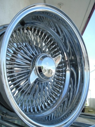 15X7 REV 100 SPOKE K/O ALL CHROME