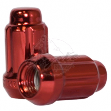"12X1.50 SPLINE LUG NUT 6 SIDED 1.38"" TALL RED"