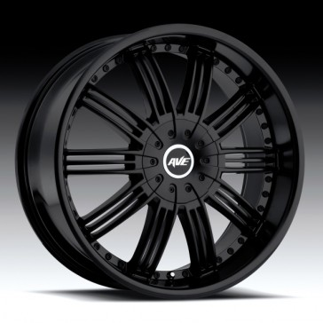 AVENUE A603BB 22X9.5+18 6X139.7 C.B 106.1 SATIN BLACK