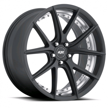 AVAT AV1 20X8.5+45 5X120 MATTE BLACK MACHINE (UNDER CUT)
