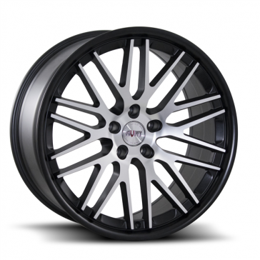 AVAT AV12 20X8.5+35 5X114.3 C.B 73.10 MATTE BLACK MACHINE FACE