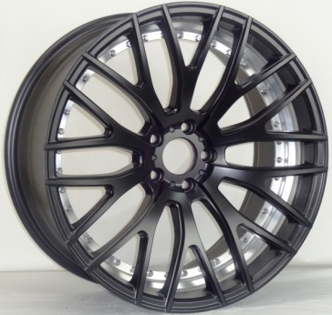 AVAT AV2 20X8.5+45 5X114.3 MATTE BLACK (UNDER CUT) MACHINE