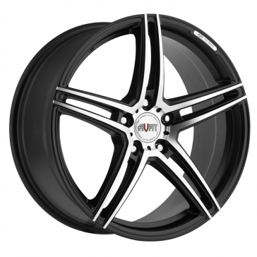 AVAT AV4 18X8+42 5X112 C.B 66.60 MATTE BLACK MACHINE FACE