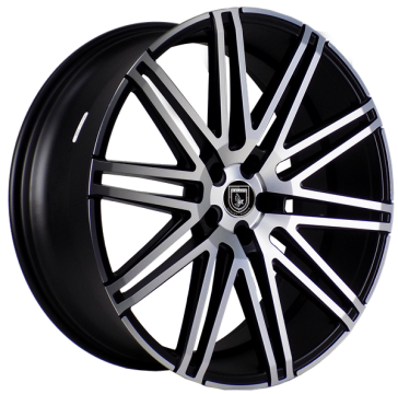 ELEGANTE AV88 22X10.5+30 5X120 C.B 73.10 SATIN BLACK MACHINE FACE****STAGGERED***SPECIAL***