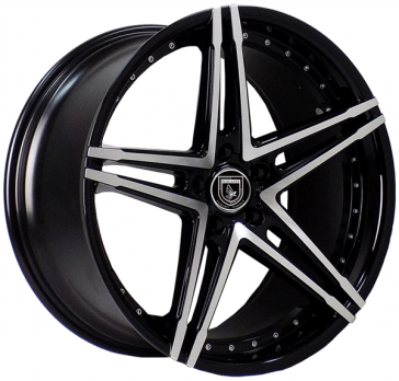 ELEGANTE AX571 20X8.5+35 5X120 C.B 73.10 GLOSS BLACK MACHINE FACE