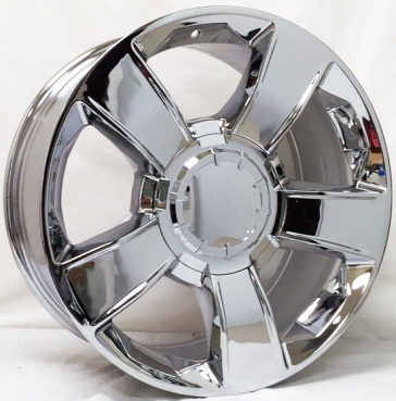 C05 [CHEVY] REPLICA 20X8.5+30 6X139.7 C.B 78.10 CHROME