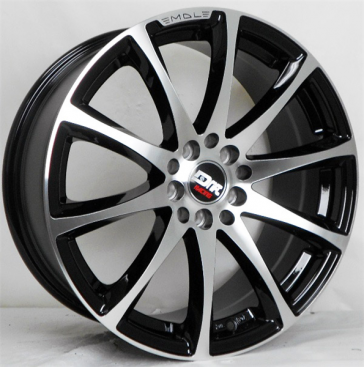 DRIFT 10889 17X7.5+38 5X100+5X114.3 C.B 73.10 GLOSS BLACK/MACHINE FACE