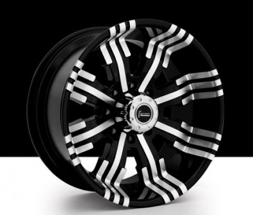 DIRT 77 17X8+20 6X139.7 BLACK/MACHINE