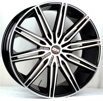 DRIFT L913 20X8.5+15 5X115+5X120 C.B 74.10 BLACK MACHINE FACE & LIP  (ALU CAP)