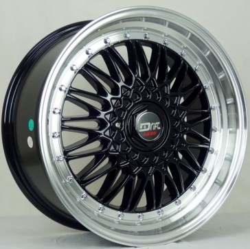 DRIFT L247 DR2 15X7+25 5X108+5X114.3 C.B 73.1 GLOSS BLK MACHINE LIP
