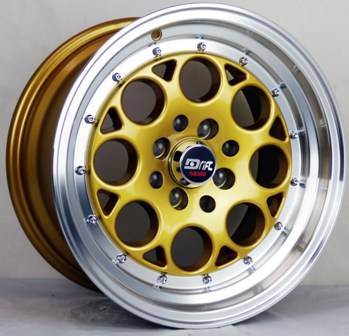 DRIFT L431 DR5 15X8+25 4X100+4X114.3 C.B 73.1 GOLD MACHINE LIP