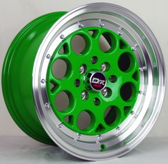 DRIFT L431 DR5 15X8+25 4X100+4X114.3 C.B 73.1 GREEN MACHINE LIP***SPECIAL***