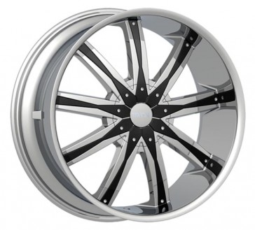 DCENTI WHEEL 29 24X9.5+13 6X135+6X139.7 CHROME/BLACK PLASTIC