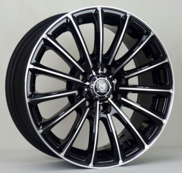 L223 15X6.5+35 4X100+4X114.3 C.B 67.1 BLACK MACHINE FACE & LIP