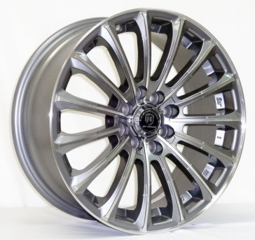 L223 16X7+35 4X100+4X114.3 C.B 67.1 GUN METAL MACHINE FACE & LIP