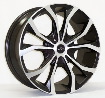 L250 17X7.5+30 4X100+4X108 C.B 67.1 MATTE BLACK MACHINE FACE & LIP