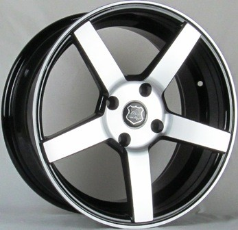 ELEGANTE 5173 SAGY 17X7.5+38 4X114.3 C.B 73.1 BLACK MACHINE FACE