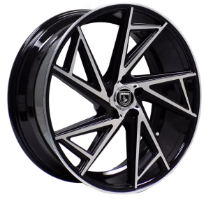 ELEGANTE A0081 22X9+20 5X115 C.B 74.10 BLACK MACHINED FACE