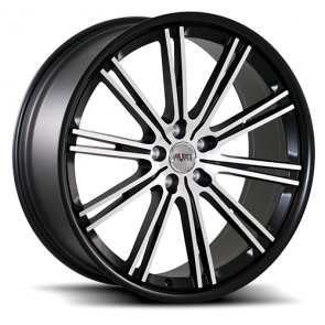 AVAT AV11 20X8.5+35  5X112 C.B 66.6 MATTE BLACK MACHINE FACE