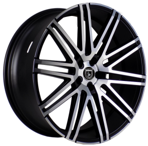 ELEGANTE AV88 22X10.5+20 5X115 C.B 73.10 SATIN BLACK MACHINE FACE****STAGGERED***SPECIAL***