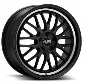AVAT AV9 20X8.5+35 5X112 C.B 66.6 MATTE BLACK MACHINED RING